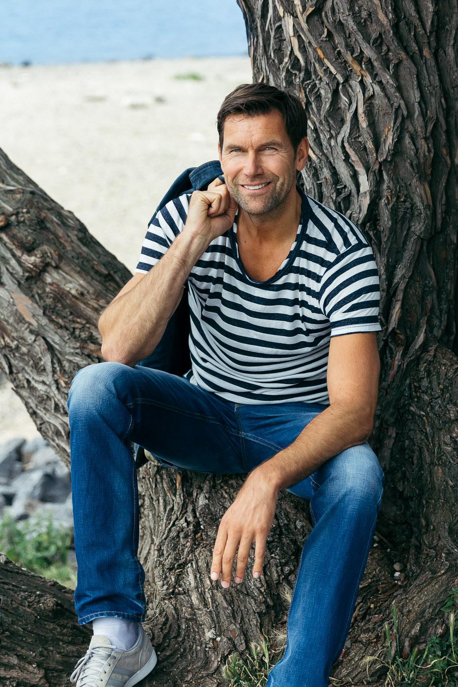 portrait lifestyle male model
