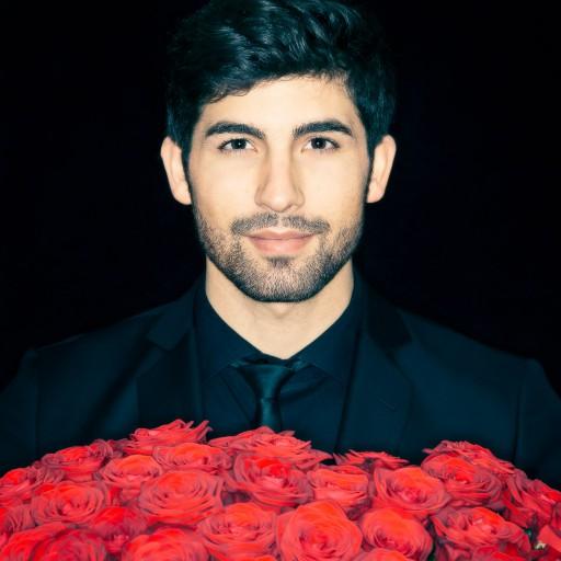 heartthrob male portrait roses