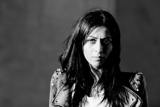 portrait female strong woman black+white