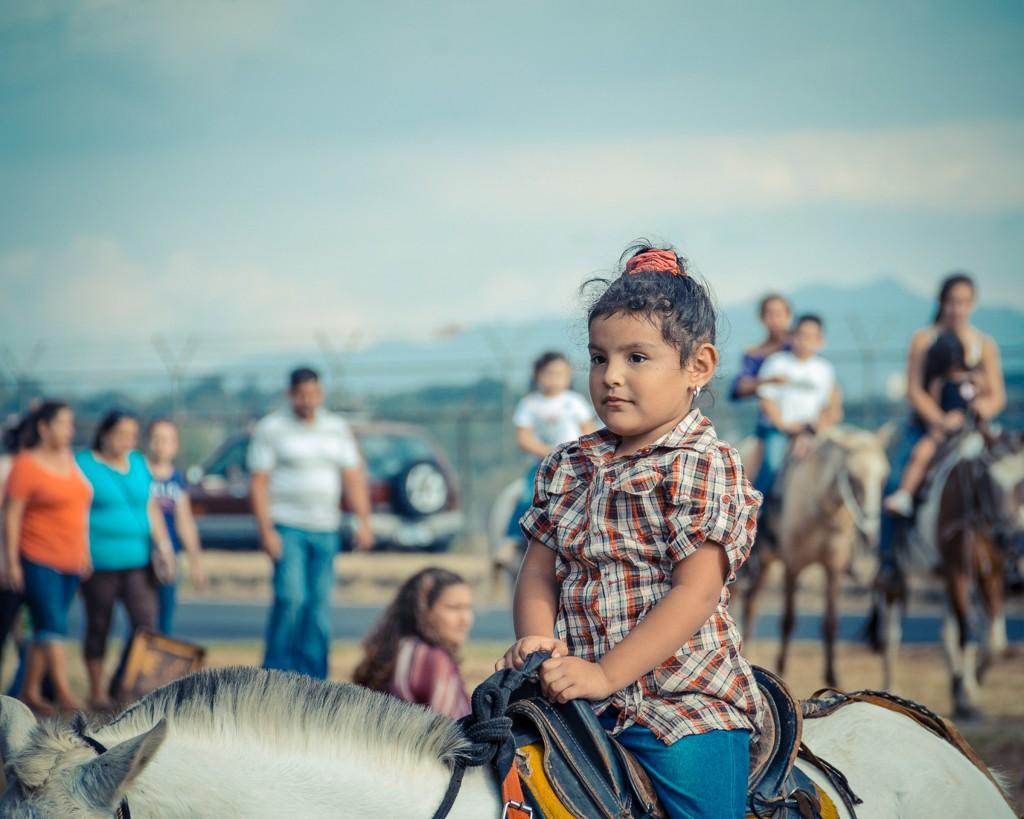 young girl horsebackriding